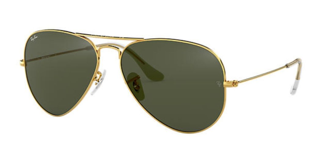 Classic Ray Ban Aviator Sunglasses
