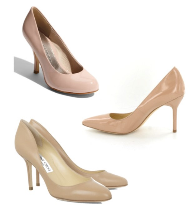 Nude pumps are the pageant girls's trick to longer looking legs
