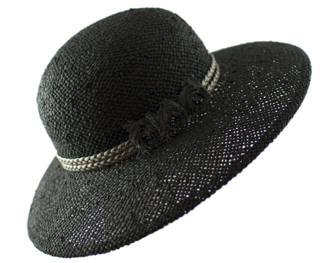 Women's Straw Hat in Classic Black is a Chic Summer Addition
