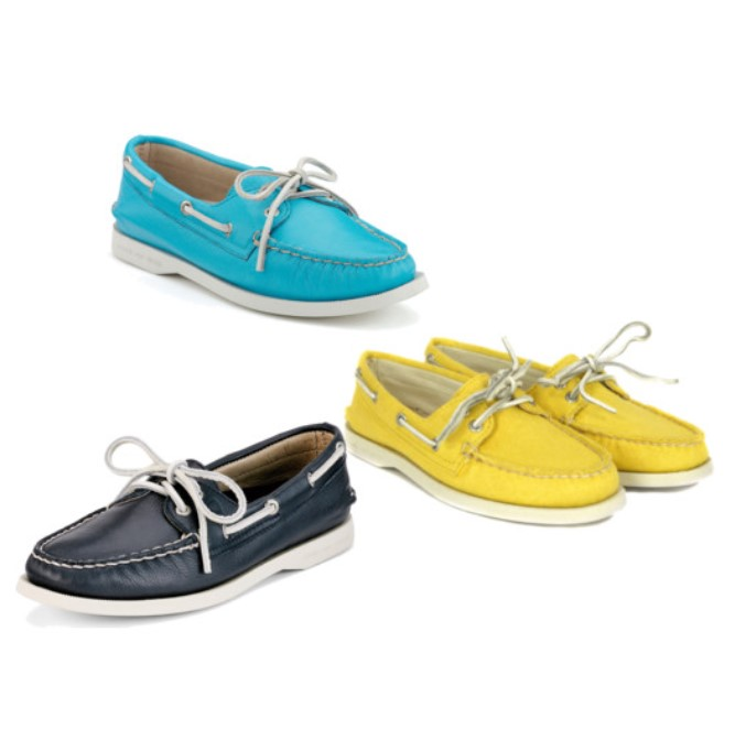Sperry Topsiders Now in Fun Brights