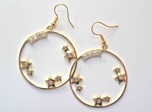 Hoop earrings take a traditional form and give it a stylish contemporary edge. Retail $29.95