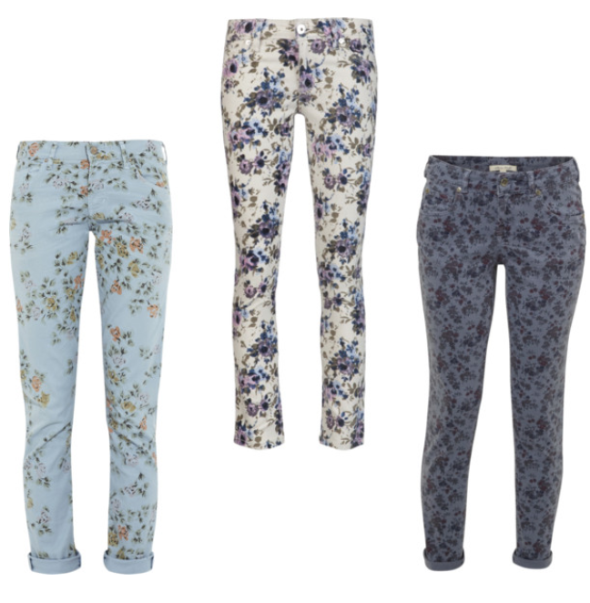 the return of floral denim for fall