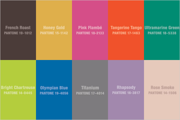The tastemakers. pantone Colors for Fall. Which will you choose?