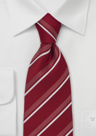 One of Cavallieri's trendy and elegant striped designs. The pattern is not printed on, but woven into the fabric, adding more texture and more depth to the tie. Available at Bows N Ties. Retail $24.90