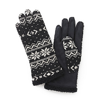 Grandoe Homespun Gloves, Snowflake Pattern