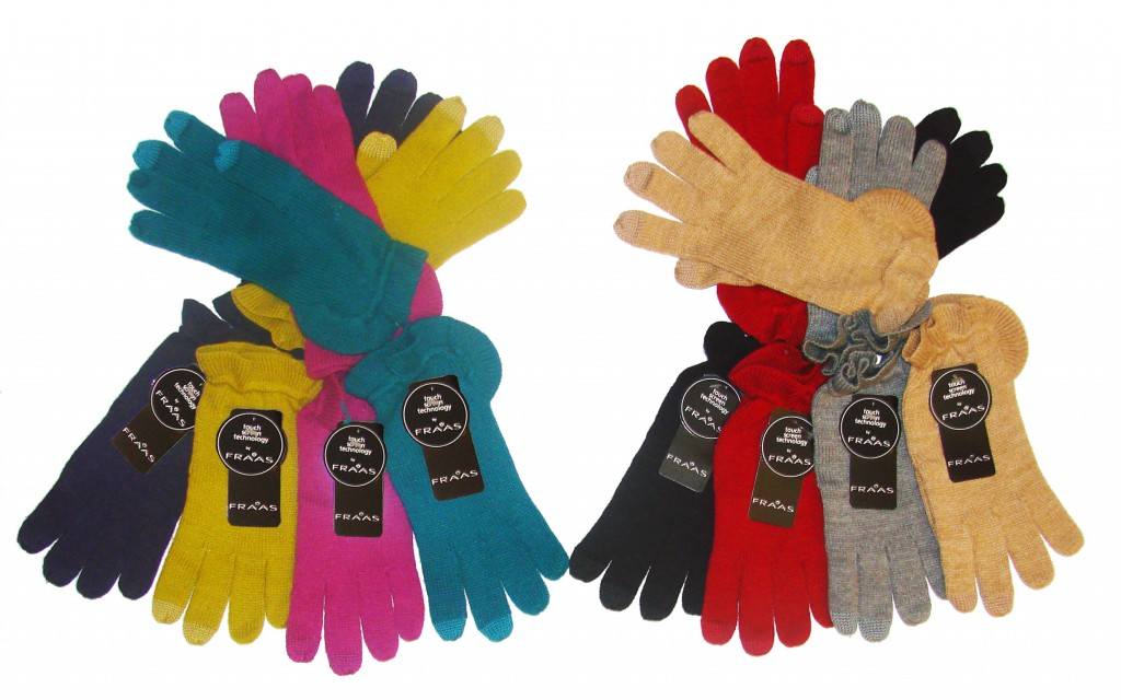 Touch Screen Compatible Gloves by FRAAS... Smart AND Stylish!