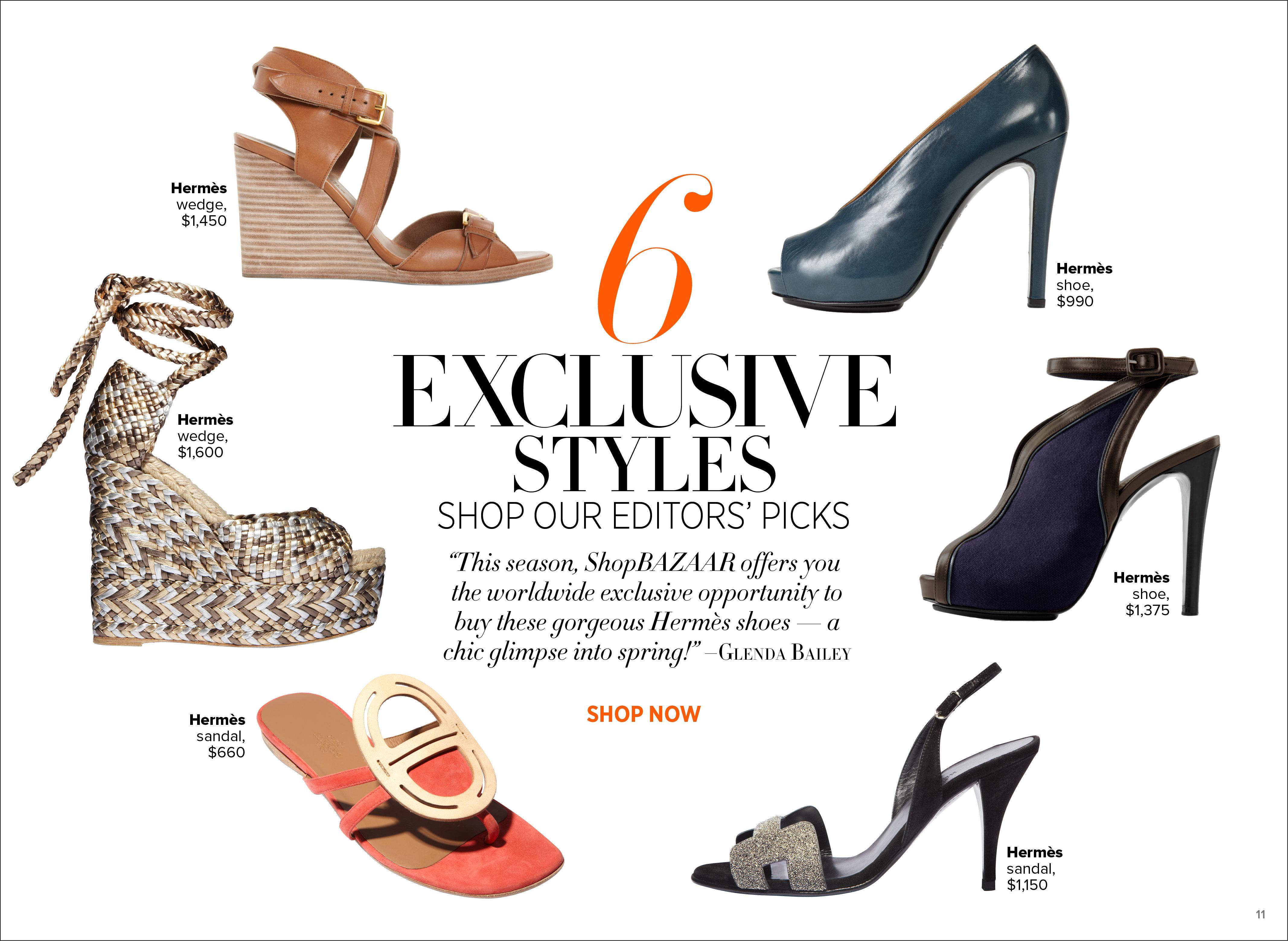 Hermes Shoes at ShopBAZAAR Harper's Bazaar