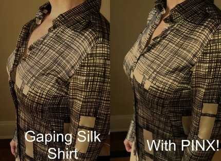 PINX Solves A Gaping Button Up Shirt