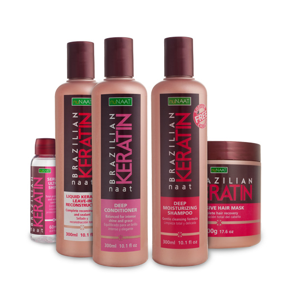NAAT Brazilian Keratin Collection for dry, damaged, colored hair