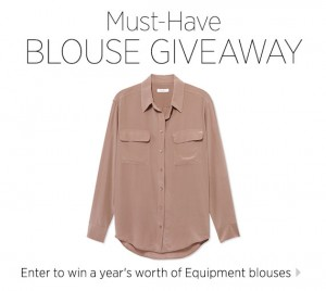 Equipment Bazaar Blouse Giveaway