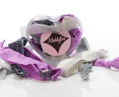 Maddyloo heart box, hair accessories