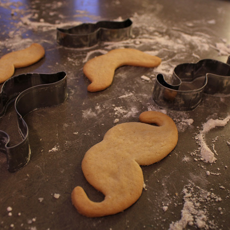 Fuzzy Ink, cookies made with 3-piece cookie cutter set, Benefits Movember