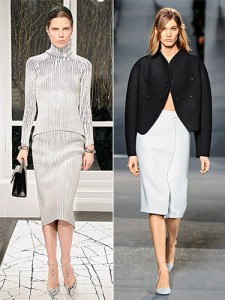 Long, midi-length skirts were on every runway! Shown here are Balenciaga Fall 2013 (left) and Proenza Schouler Fall 2013 (right).