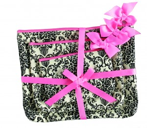 Jessie Steele damask cosmetics bags