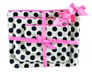Jessie Steele polka dot cosmetic bags