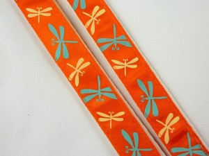 Bra Zing, orange with dragonflies