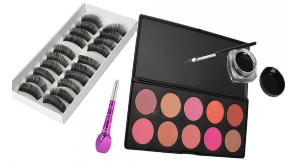 T-MART.COM 10-Color-Blush-Palette-10-Pairs-Long-False-Eyelashes-Eye-Liner-Makeup-Set-010-_nologo_600x600_original