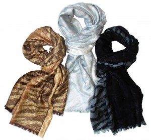 FRAAS Zebra Metallic Scarves, Holiday 2013 Collection