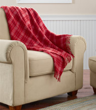 LL BEAN Plaid Throw