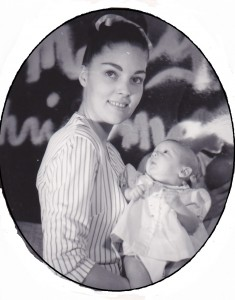 Mom with me as at 1 month old. Who looks this great with a newborn?!