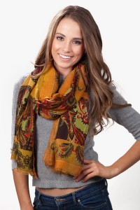 The Emily Scarf adds dramatic flair to any winter look and retails for only $35 at Scarves.com.