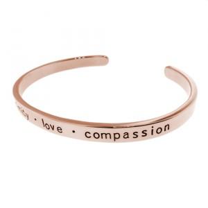 Metalpressions hand stamped rose gold cuff bracelet