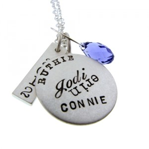 Metalpressions hand stamped sterling pendant
