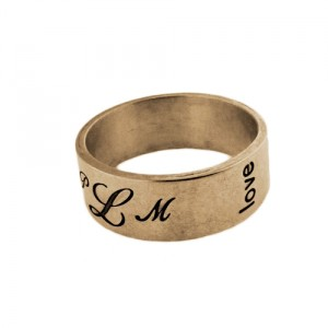 Metalpressions yellow gold band