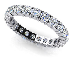 ANJOLEE 4 prong eternity ring