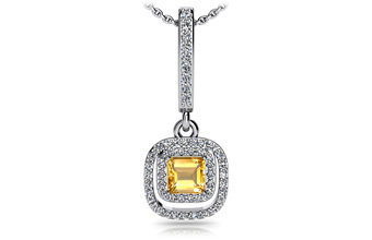 ANJOLEE Day to night Diamond and Gem Drop Pendant