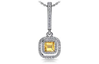 ANJOLEE Day to night Diamond and Gem Drop Pendant