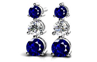ANJOLEE three stone earrings