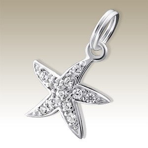 Starfish charm Elf 925