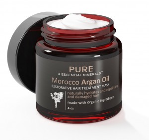 An Organic Morocco Argan Oil Hair Treatment Mask from Pure & Essential Minerals