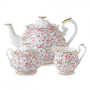 Royal Albert Rose Confetti Tea Set