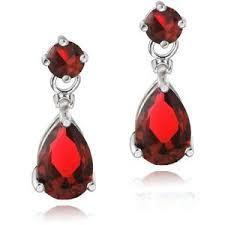 SILVERSPECK Sterling Silver Created Ruby & Diamond Accent Teardrop Earrings