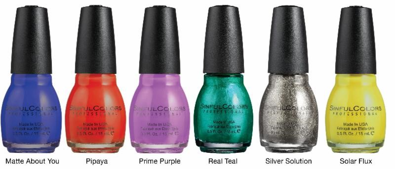 SinfulColors Silk + Satin Collection, Summer 2014