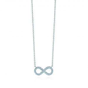Tiffanity Infinity Pendant in Platinum