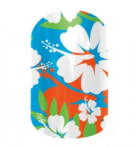 Aloha Flower, Jamberry Nails