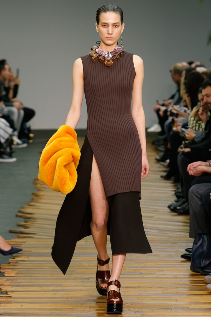 Céline, brown tiered dress
