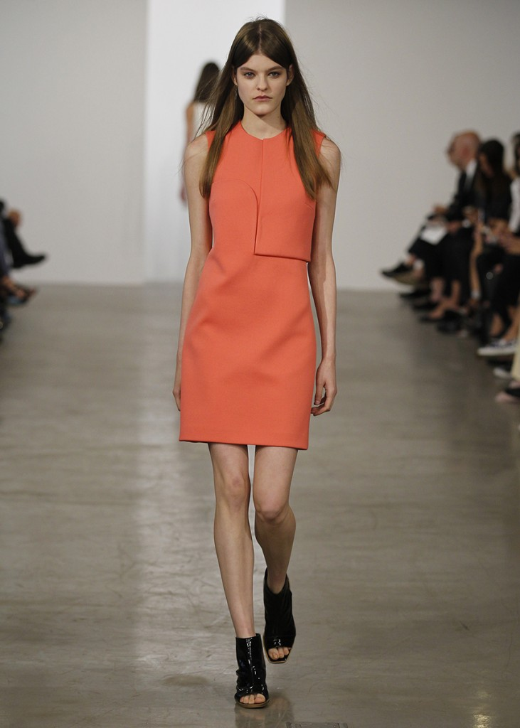 CALVIN KLEIN, Orange Shift, Spring 2014 RTW
