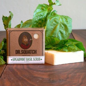 Spearmint Basil Scrub Soap by Dr. Squatch