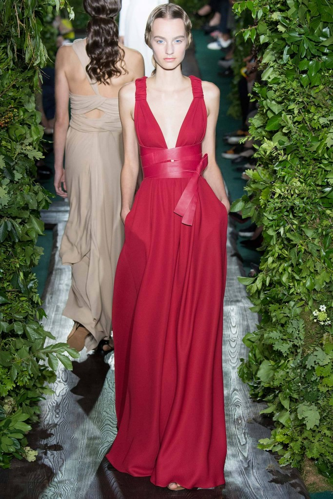 Valentino, Fall RTW red wrap gown