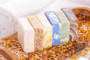 Keomi soaps, all without wrappers