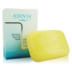 Adovia Natural Sulfur Soap for treament of acne and blemishes