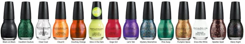 Wicked Colors nail polishes and top coats by SinfulColors Halloween Collection 2014