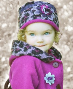 High res image, hat and coat, little girl