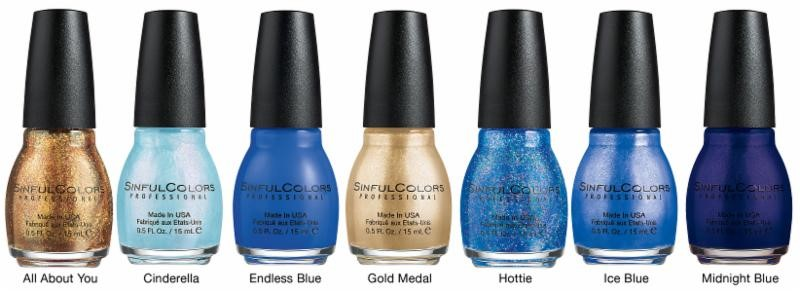 Sinful Colors, Hints of Blue and Gold, Holiday nail polish collection, 2014