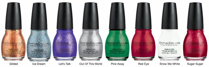 Sinful Colors Holiday Faves, Holiday nail polish, 2014