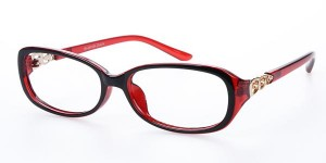 glasses.com Waycross Rectangle - Black and Red
